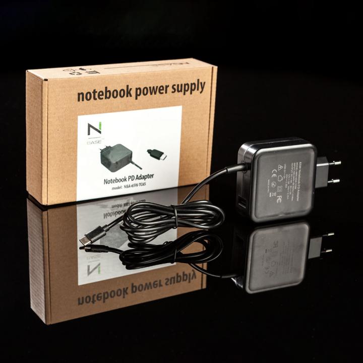 00efedf49778 nBase NBA-65W-TC65 1xUSB Type-C 1xUSB 5V 2A notebook töltő+kábel